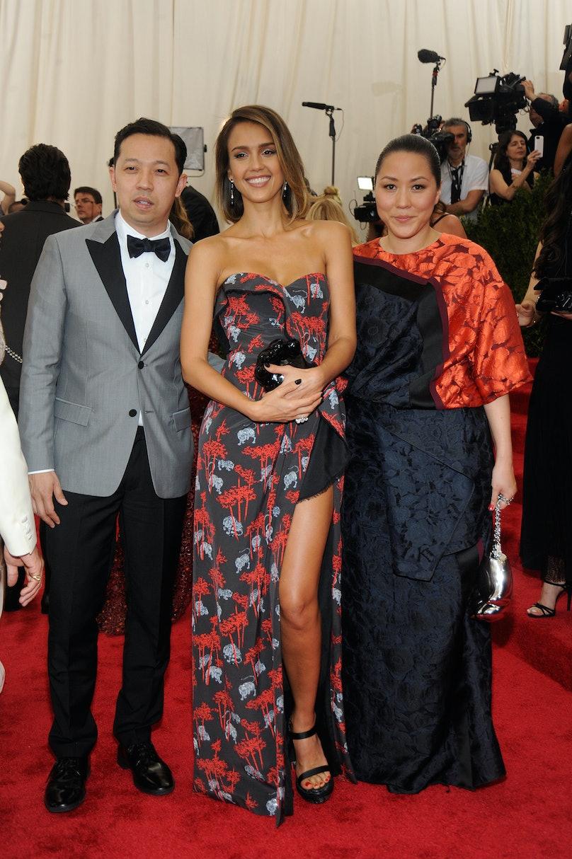 Humberto Leon, Jessica Alba, and Carol Lim in Kenzo