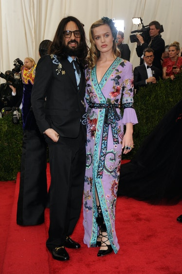Alessandro Michele and Georgia May Jagger in Gucci