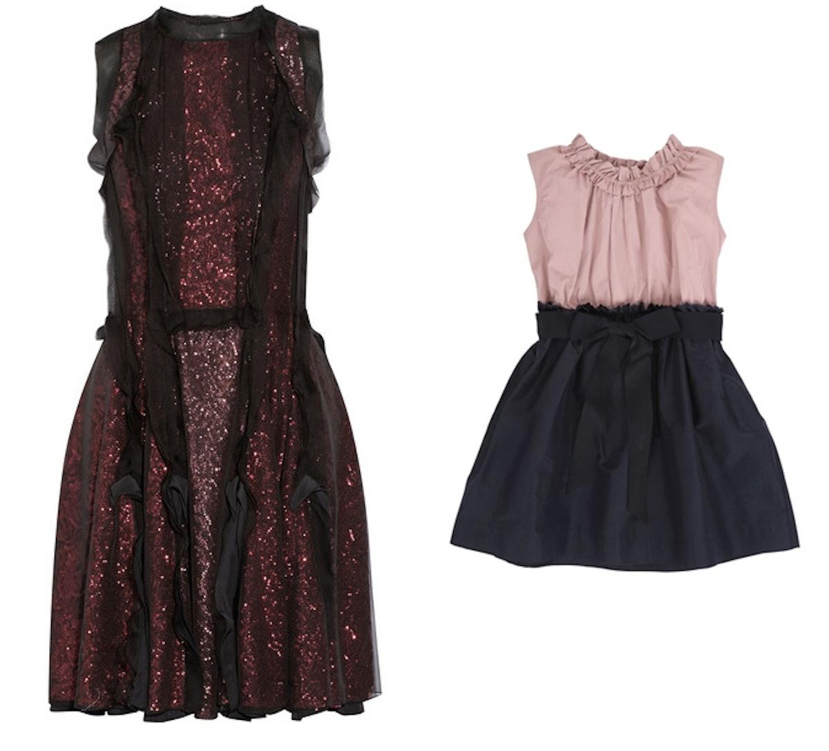 Lanvin sequined chiffon dress