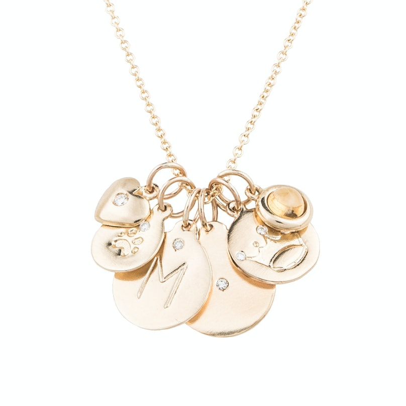 Helen Ficalora 14k gold Essential charm necklace