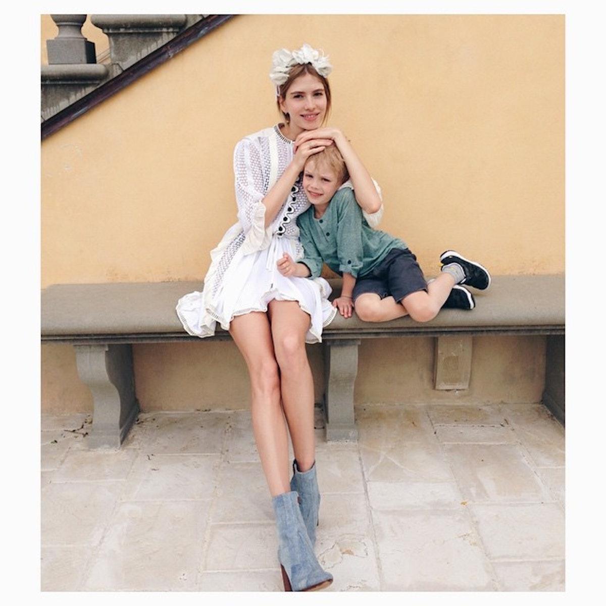 Lena Perminova in Louis Vuitton