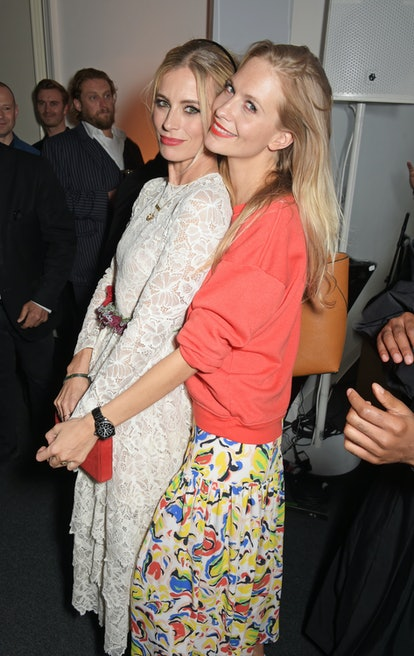 Laura Bailey and Poppy Delevingne