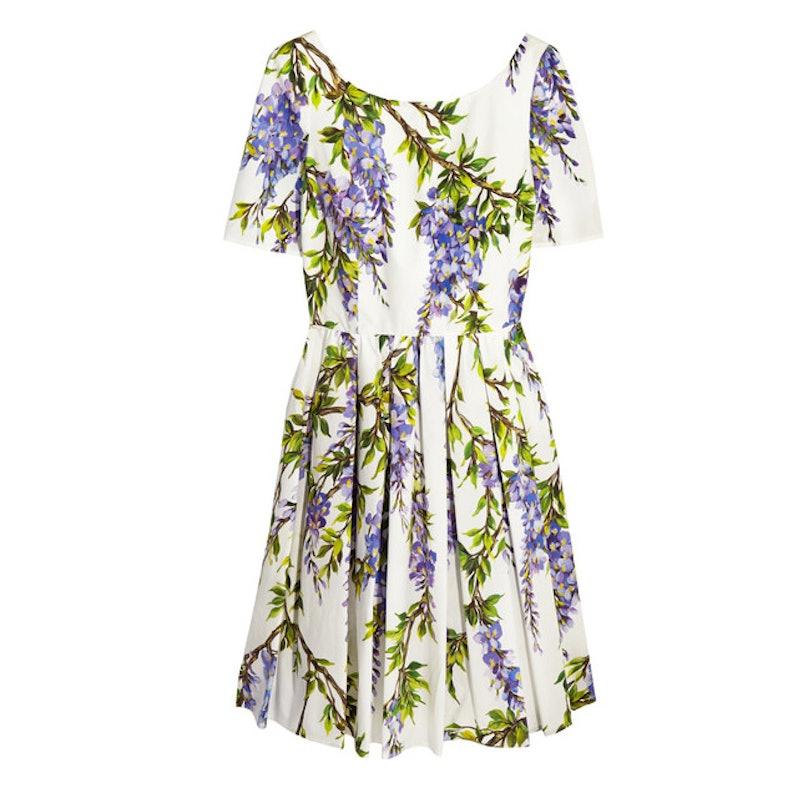 Dolce & Gabbana floral-print cotton-poplin dres