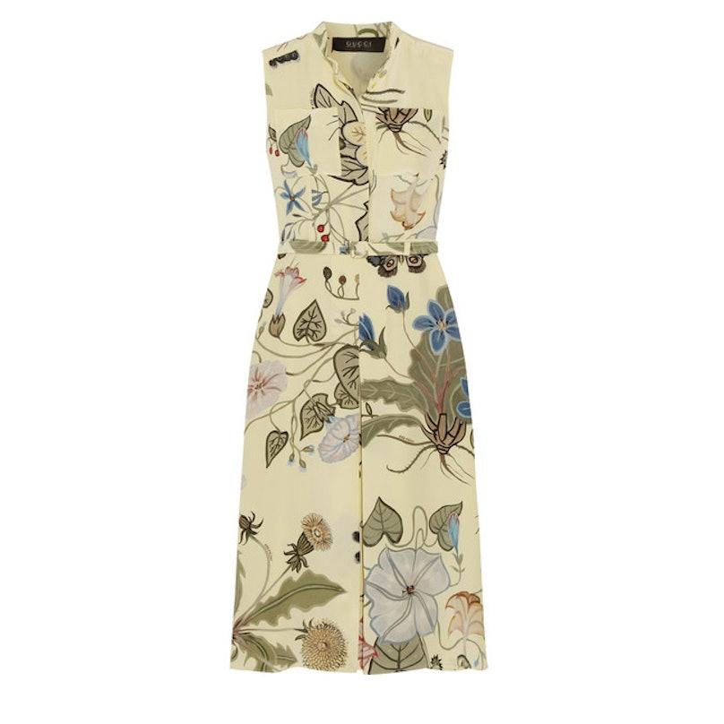 Gucci floral-print silk-cady dress