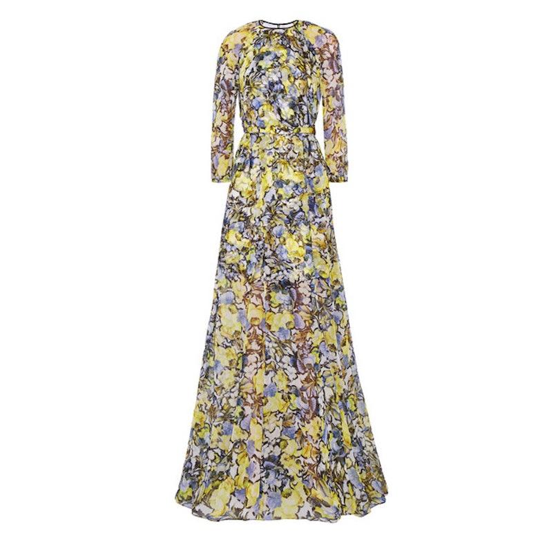 Erdem Lamara floral-print silk-chiffon gown