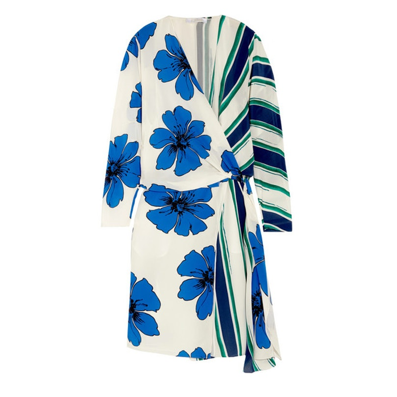 Chloe printed silk crepe de chine wrap dress