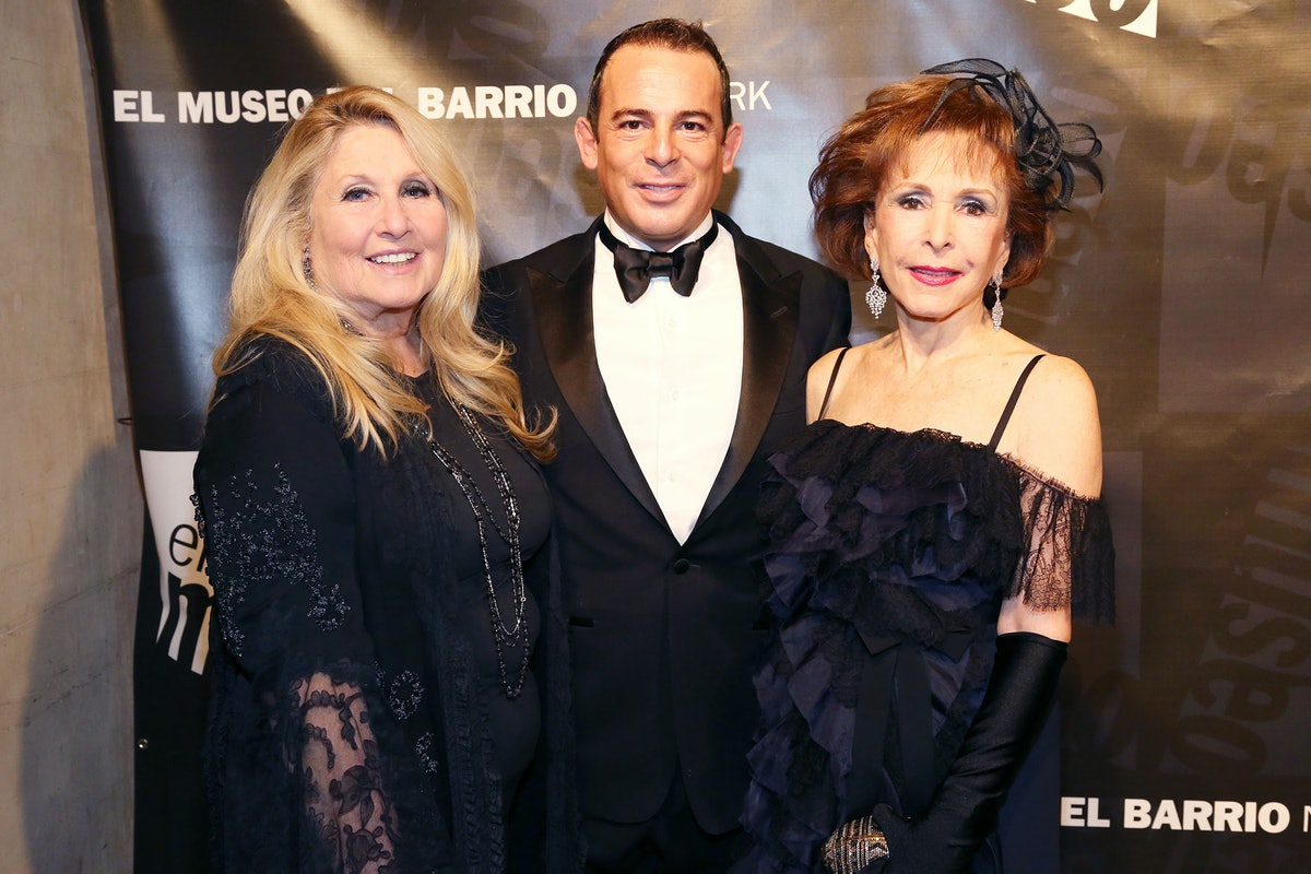 Jane Holzer, Eugenio Lopez Alonso, and Yolanda Santos