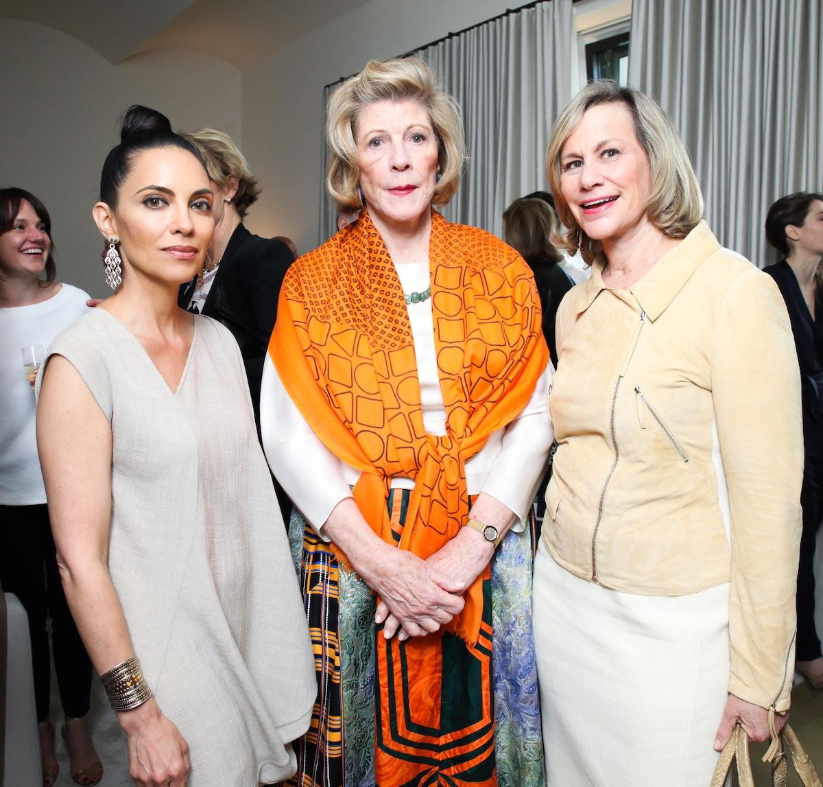 Teresita Fernandez, Agnes Gund, and Laurie Tisch