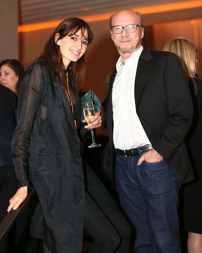 Kenza Fourati and Paul Haggis