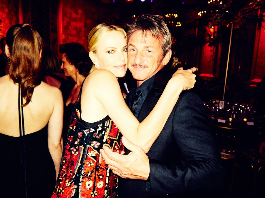 Charlize Theron and Sean Penn.