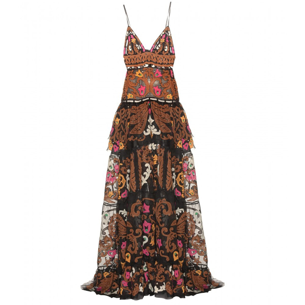 Emilio Pucci embellished silk tulle gown
