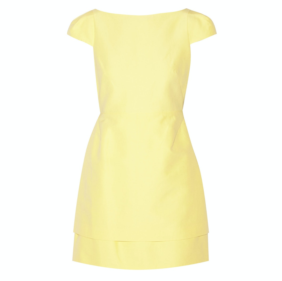 Halston Heritage cutout cotton and silk-blend mini dress