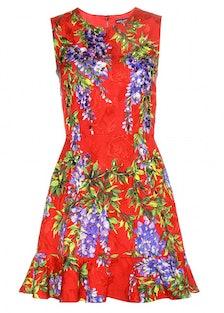 Dolce & Gabbana embellished brocade mini dress