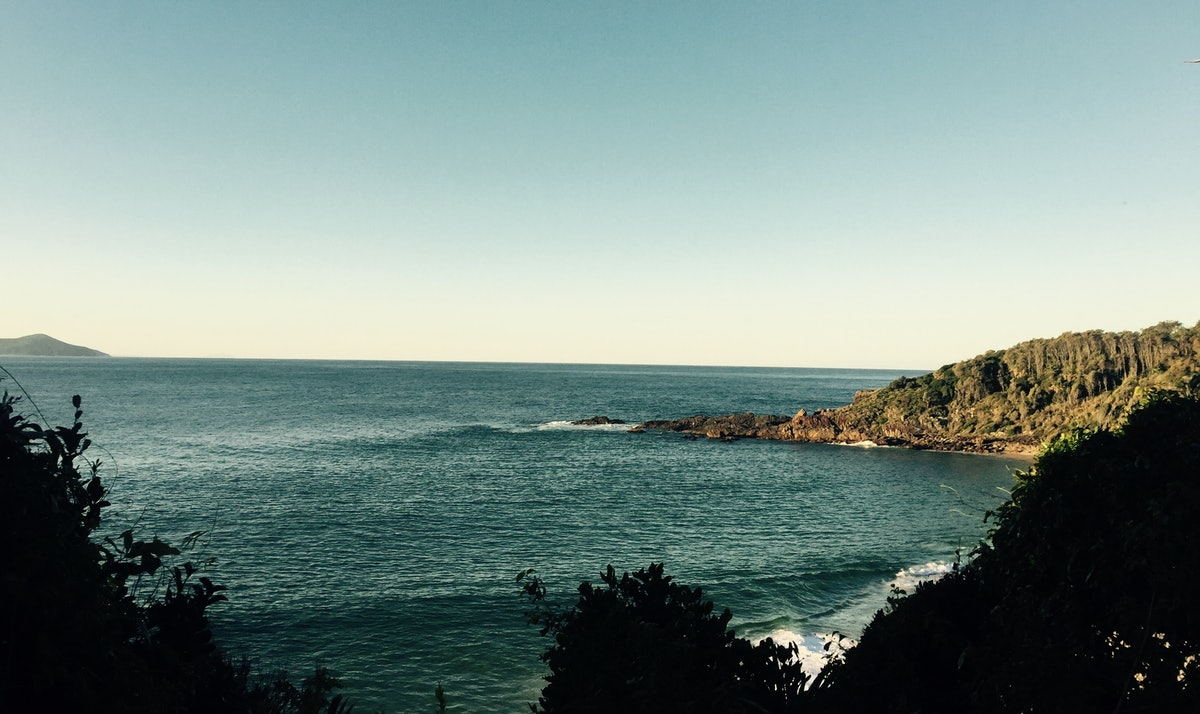 Shelly beach view from forest track