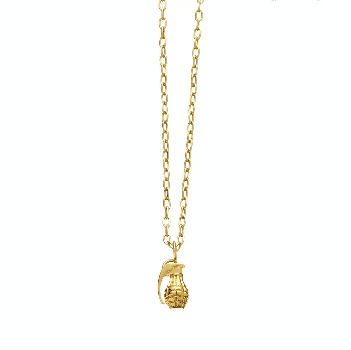 Jennifer Fisher 14K gold grenade charm necklace