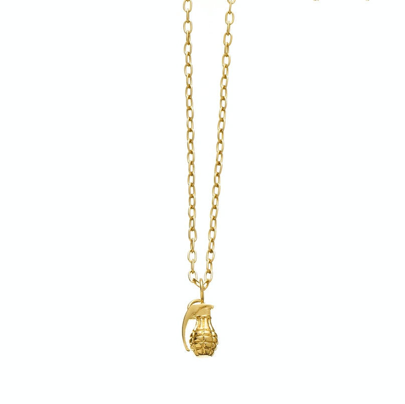 Jennifer Fisher 14K gold grenade charm necklace