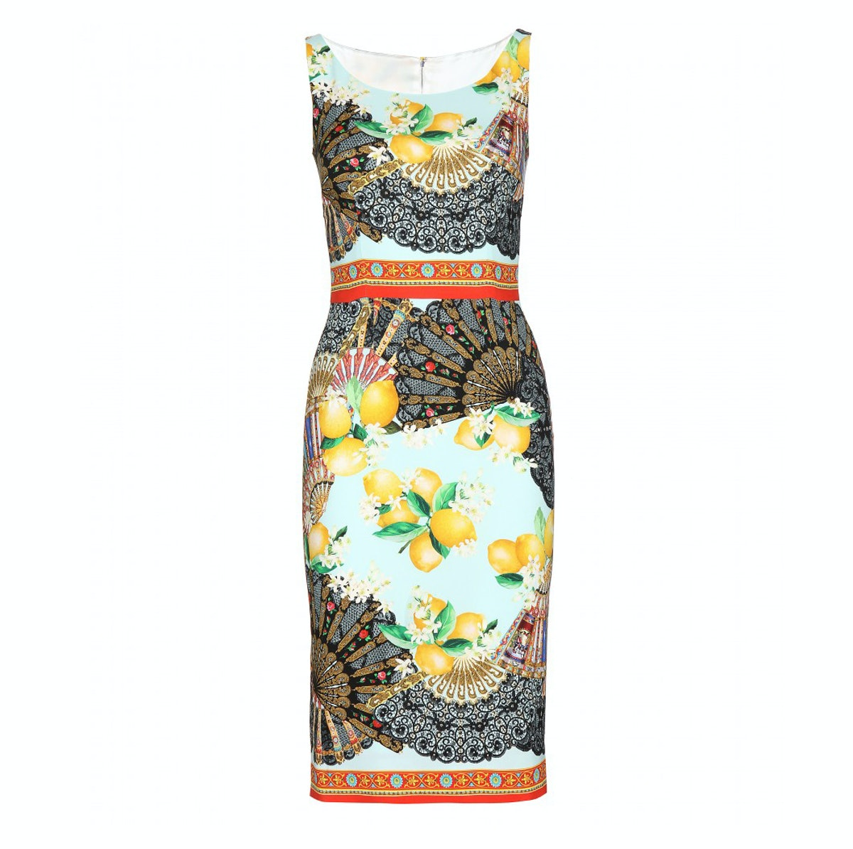 Dolce Gabbana sleeveless silk dress