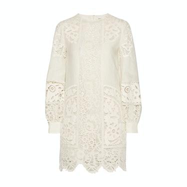 Valentino broderie anglaise linen mini dress