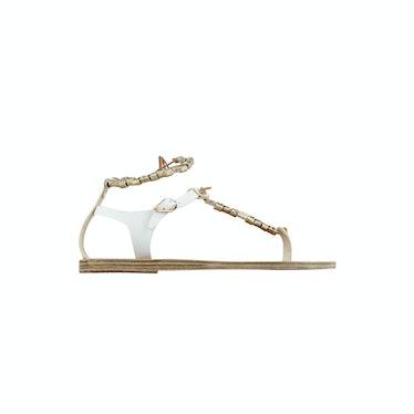 Chrysso Beaded Vachetta Thong Sandal