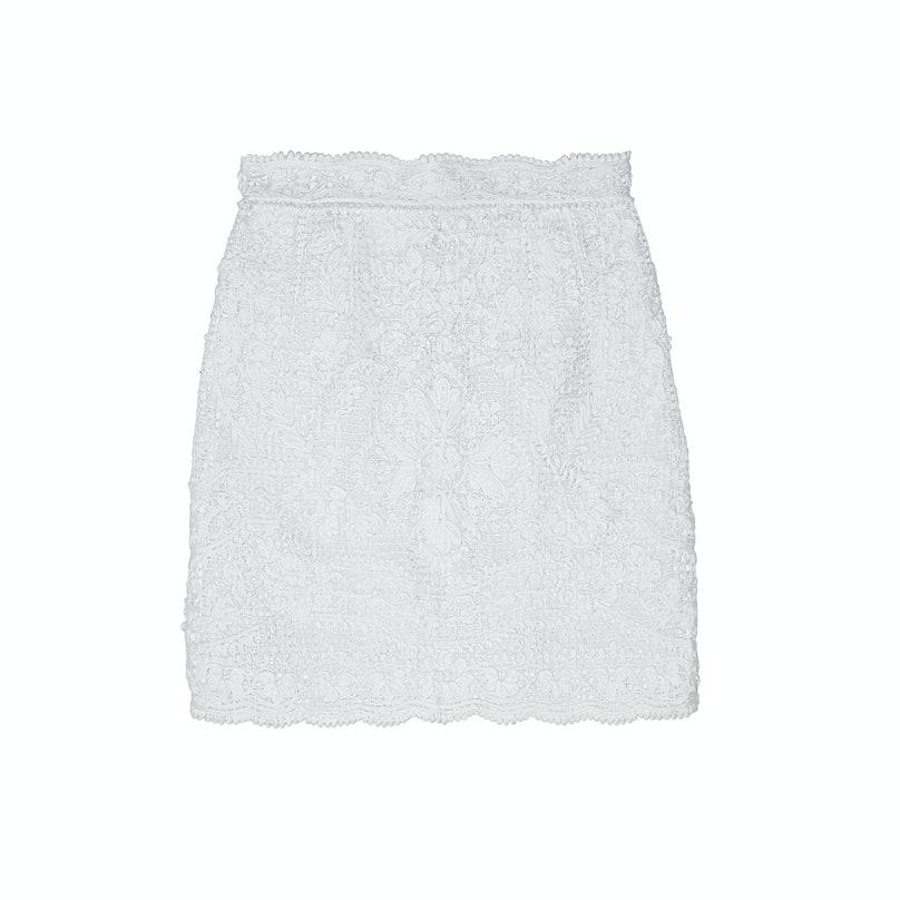 Dolce & Gabbana crocheted lace mini skirt