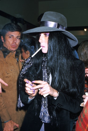 Cher smoking
