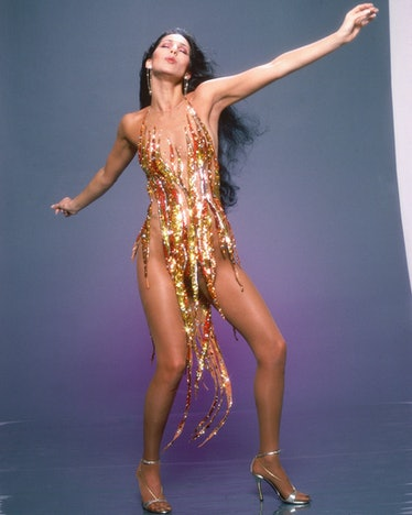 Cher wearing Bob Mackie
