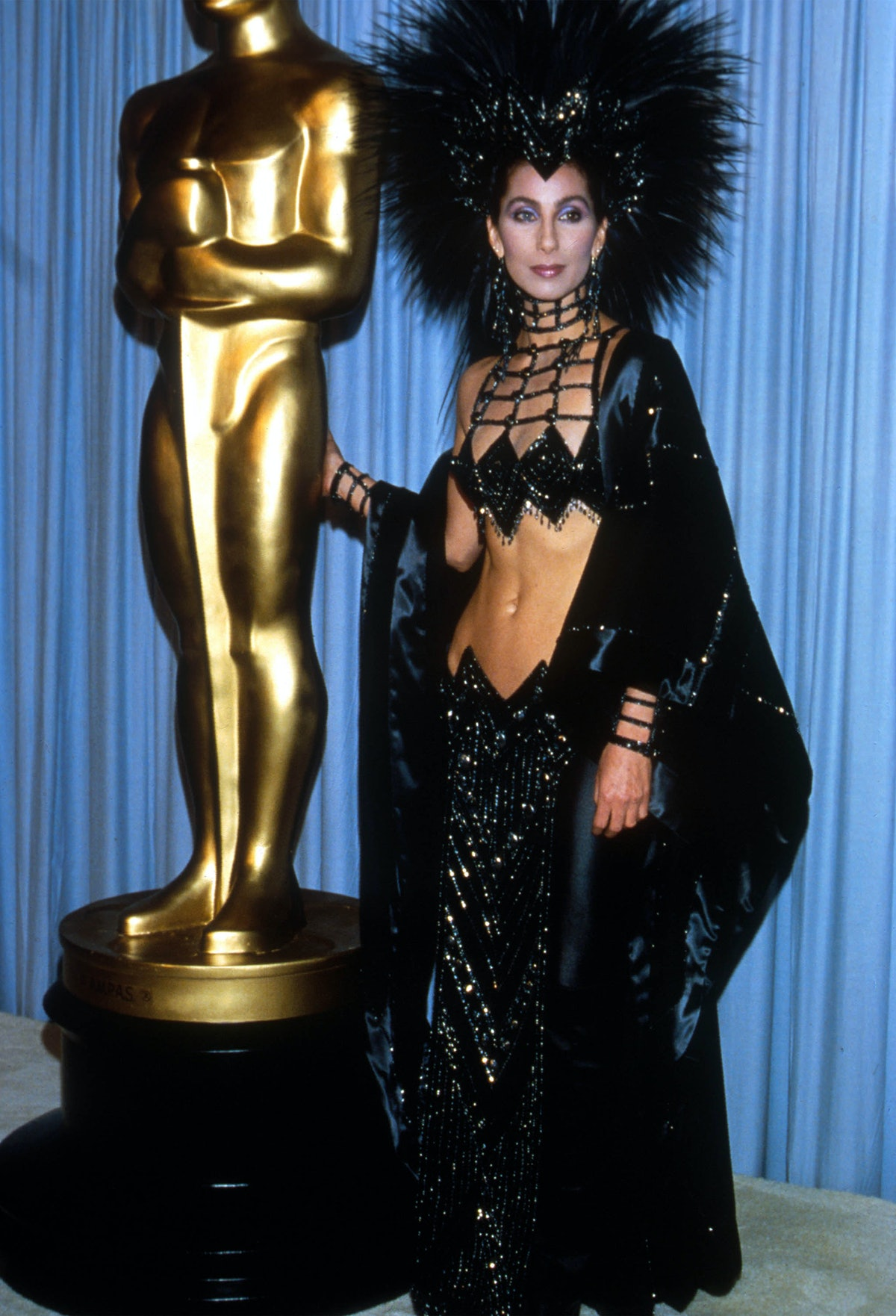 Cher wearing Bob Mackie at the Oscars