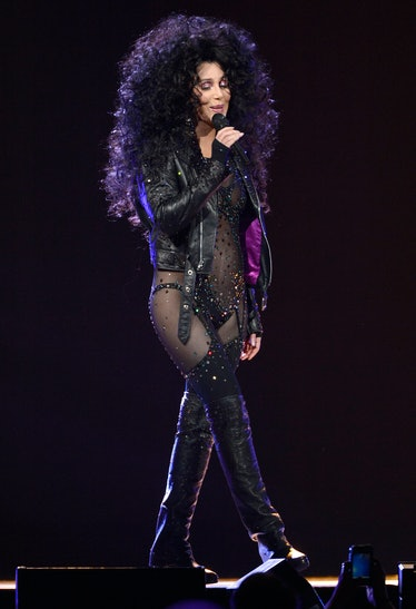 Cher performing