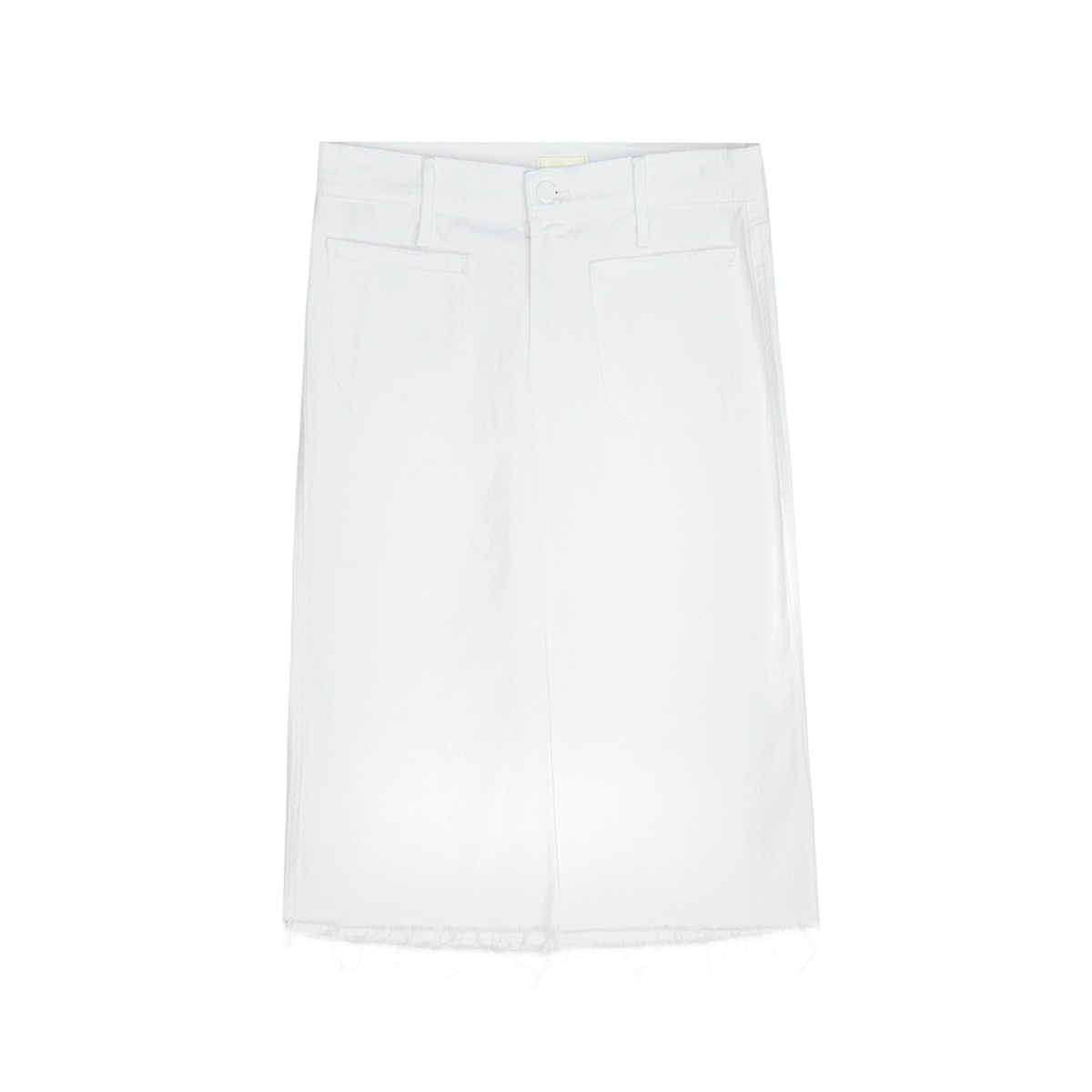 Mother high-waisted patchiness skirt