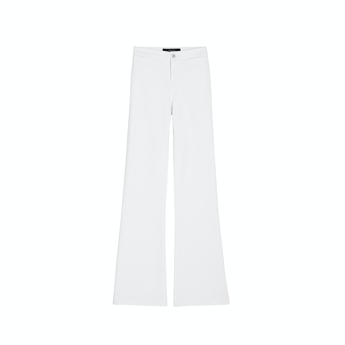 J Brand Tailored High-Rise Flare in Blanc