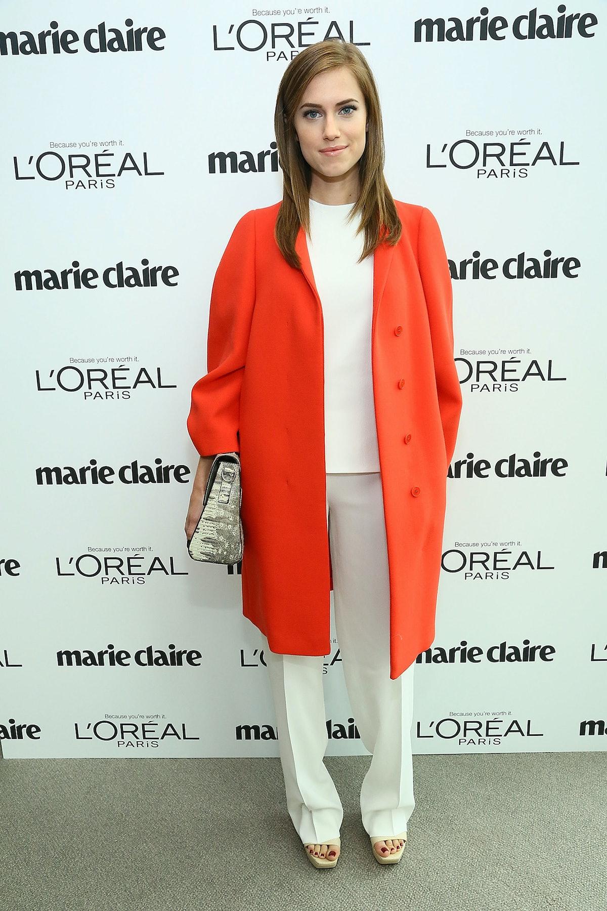 Allison Williams in Calvin Klein