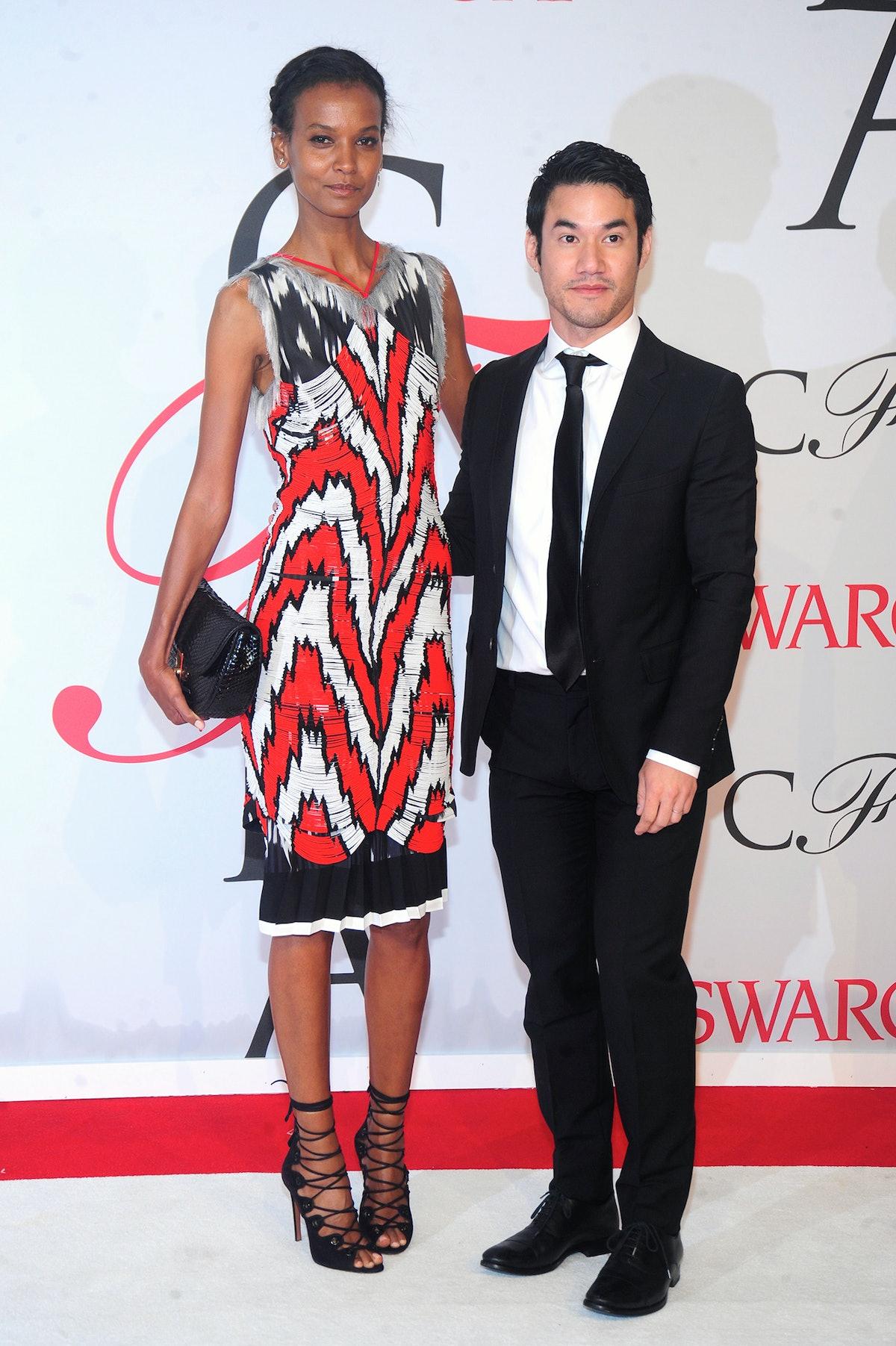 Liya Kebede and Joseph Altuzarra