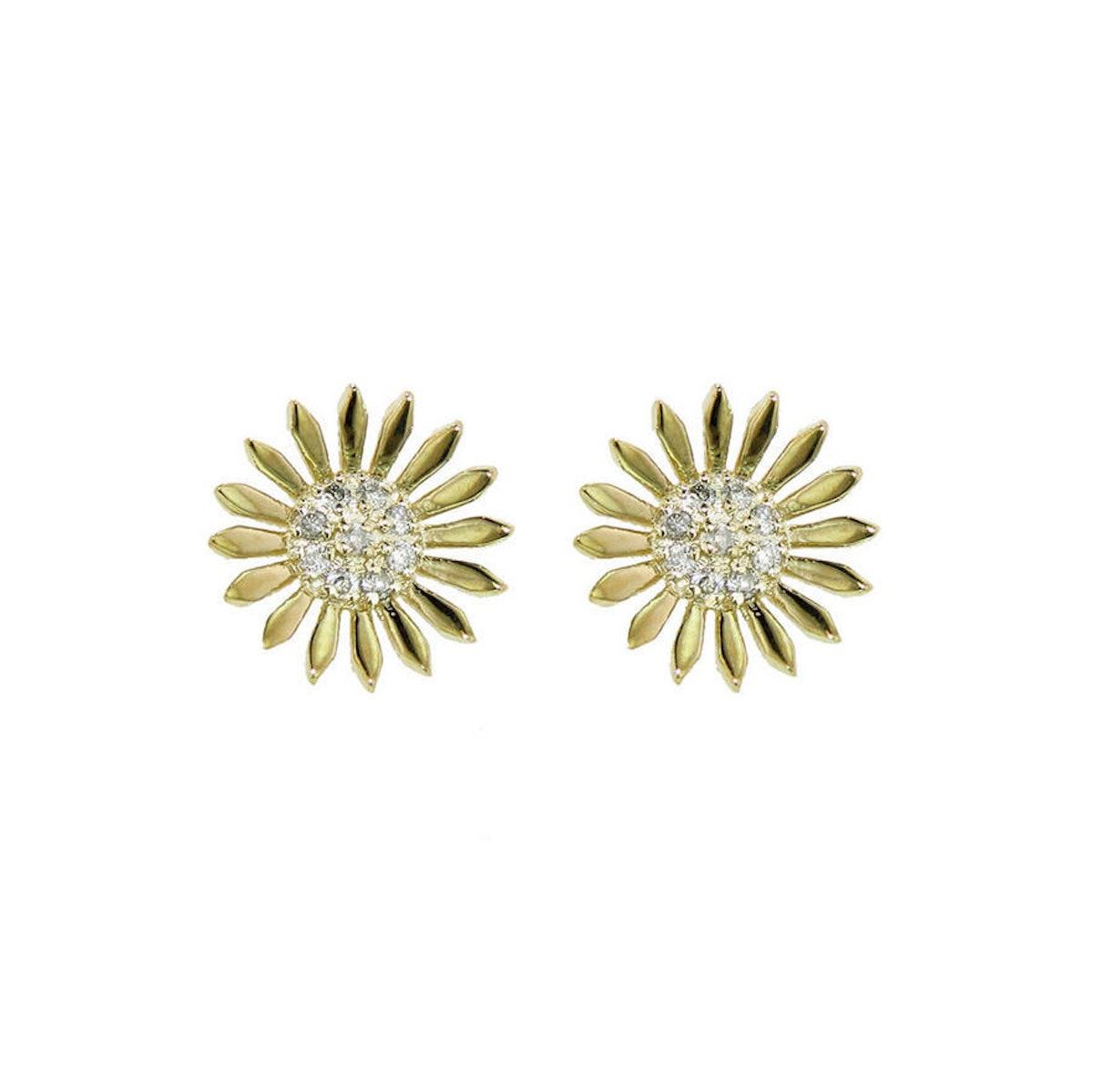 Sydney Evan earrings, $855, ylang23.com