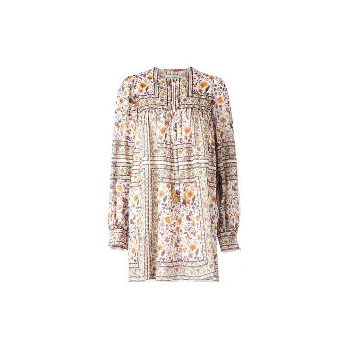 Saint Laurent peasant dress