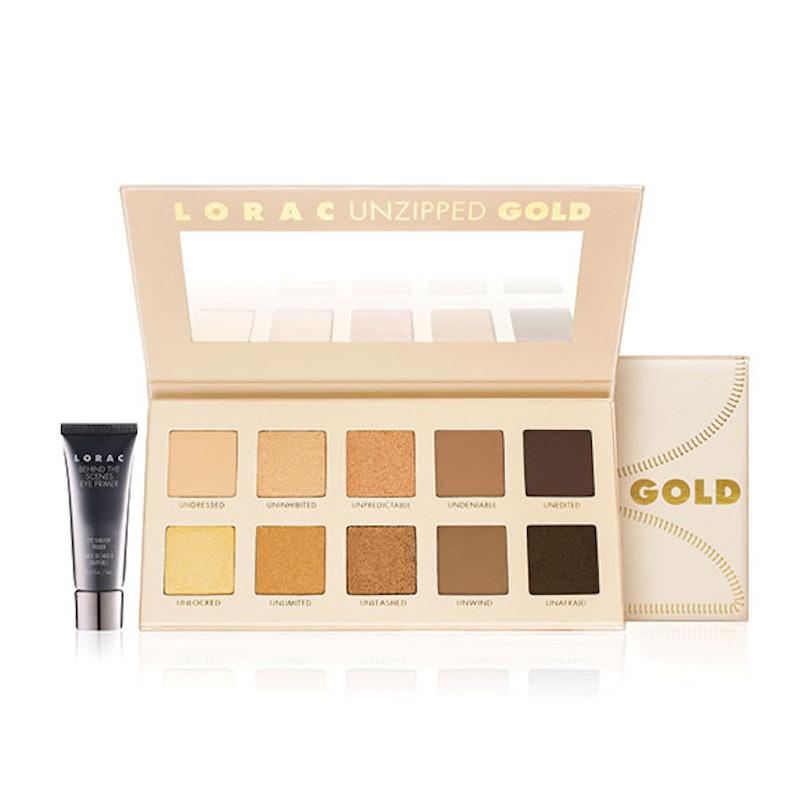 Lorac Unzipped Gold Shimmer & Matte Eye Shadow Palette