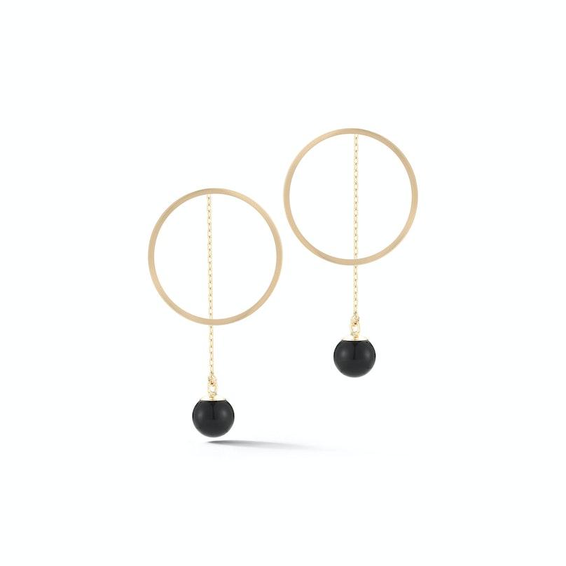 Mateo onyx hoop earring