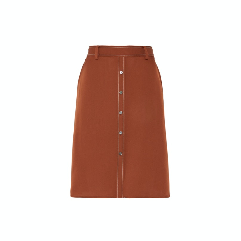 Theory Orvalyn silk skirt
