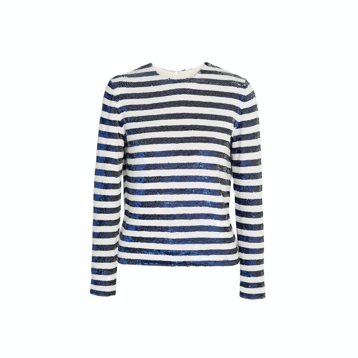 Ashish sequined stripe top