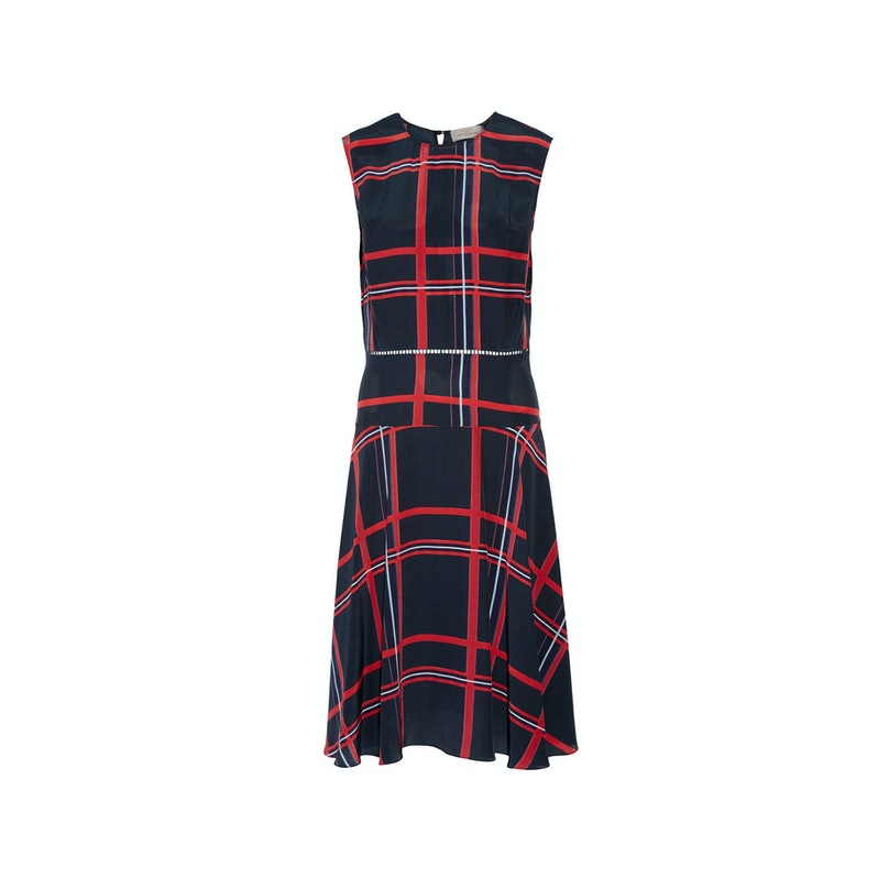 Preen by Thornton Bregazzi oxford print dress