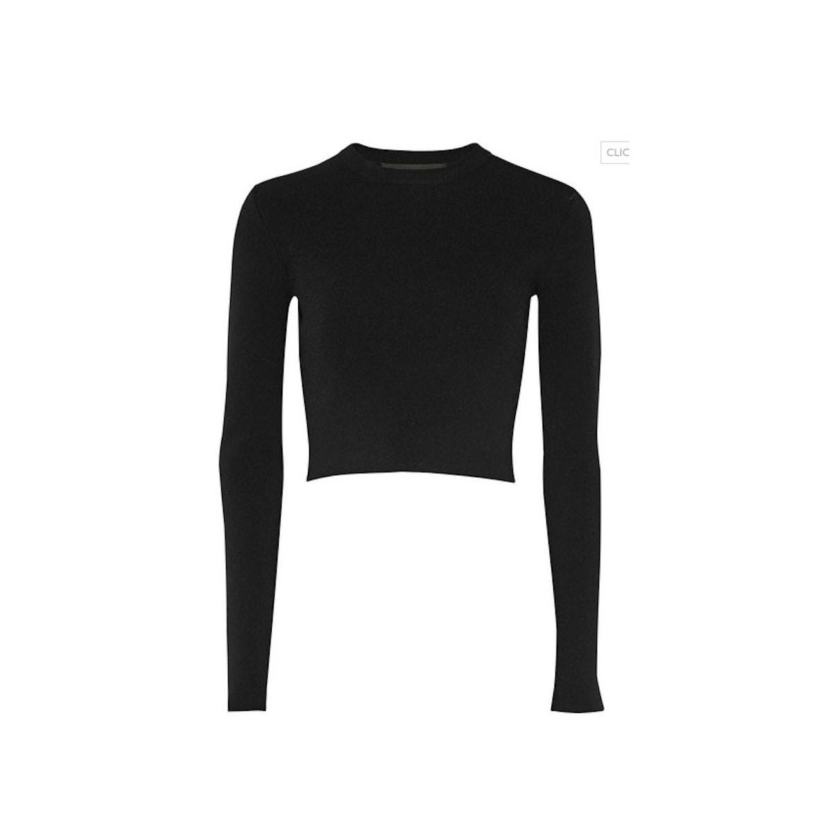Proenza Schouler cropped stretch-jersey top