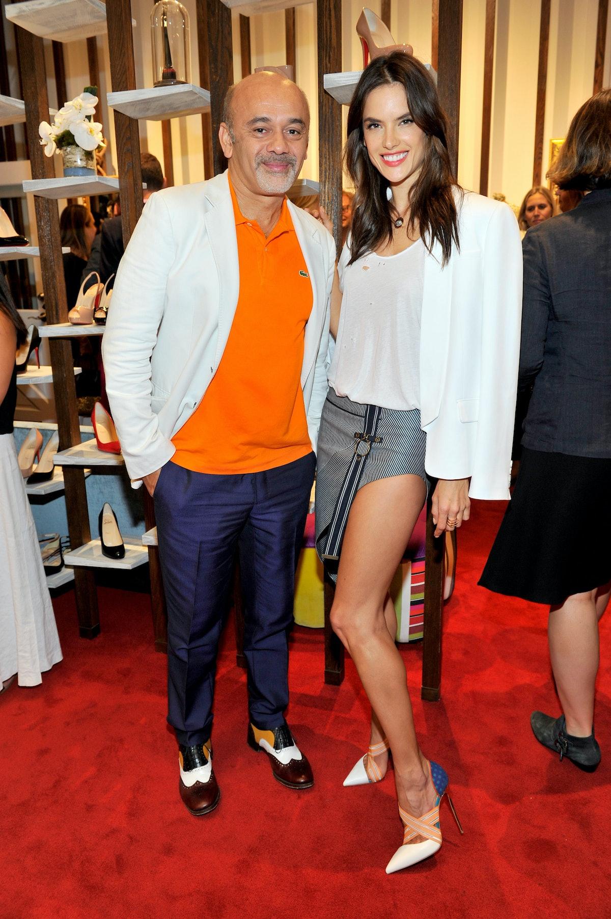 Christian Louboutin and Alessandra Ambrosio