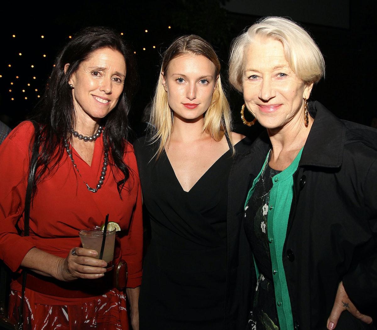 Julie Taymor, Lilly Englert and Helen Mirren
