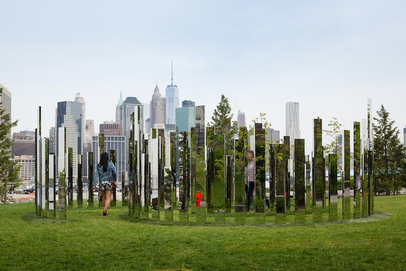 Jeppe Hein's Please Touch the Art at Brooklyn Bridge Park