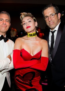 Andy Cohen, Miley Cyrus, and Kenneth Cole
