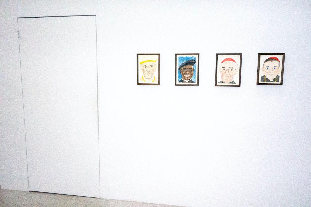 "Installation view of ""Men of God."""
