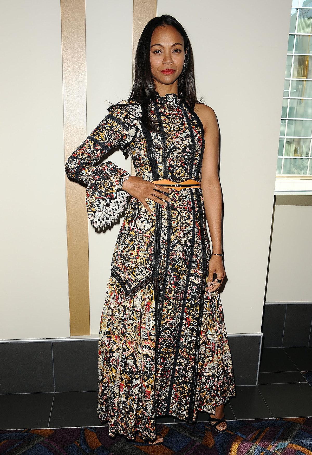 Zoe Saldana in Louis Vuitton