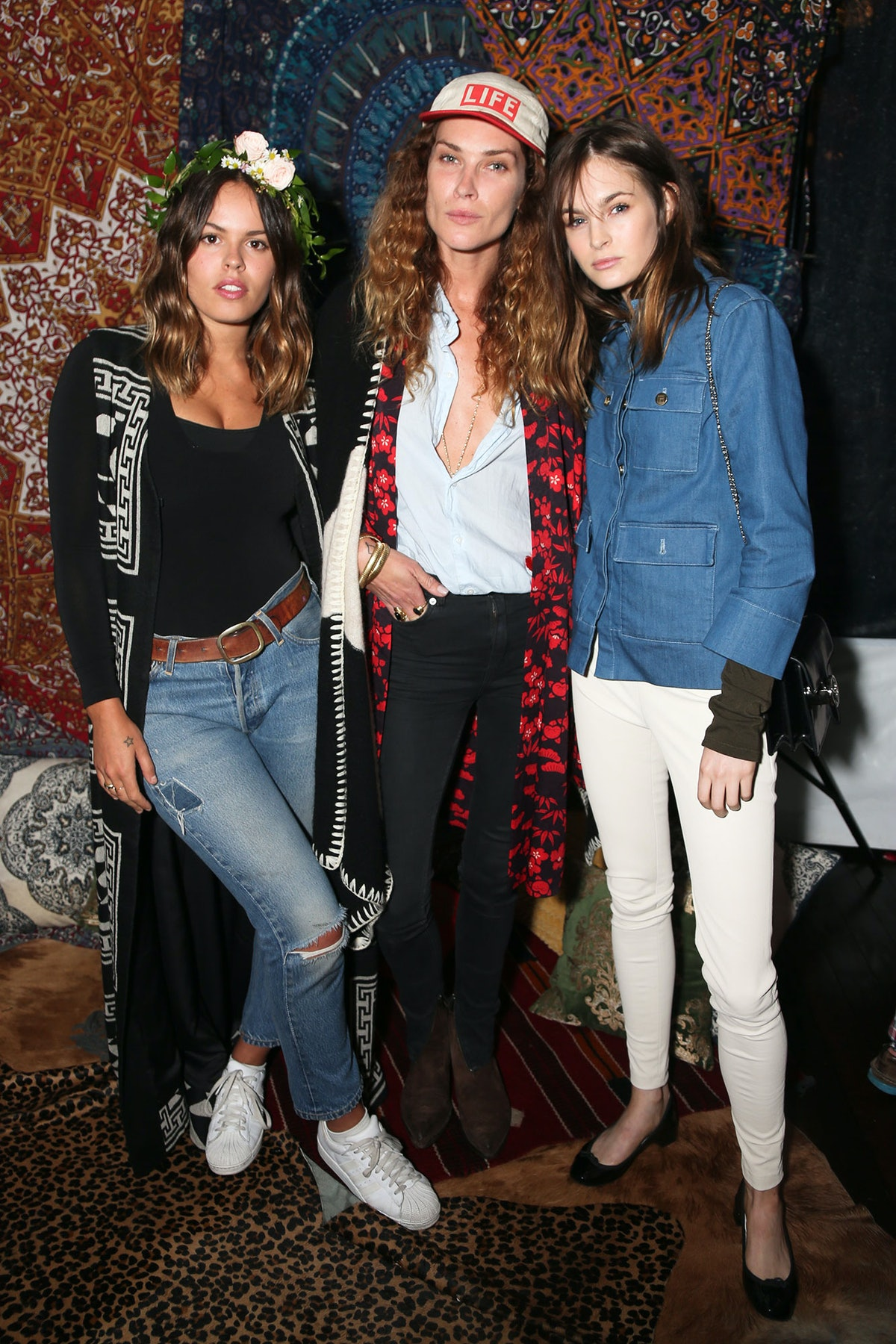 Atlanta de Cadenet Taylor, Erin Wasson, and Laura Love