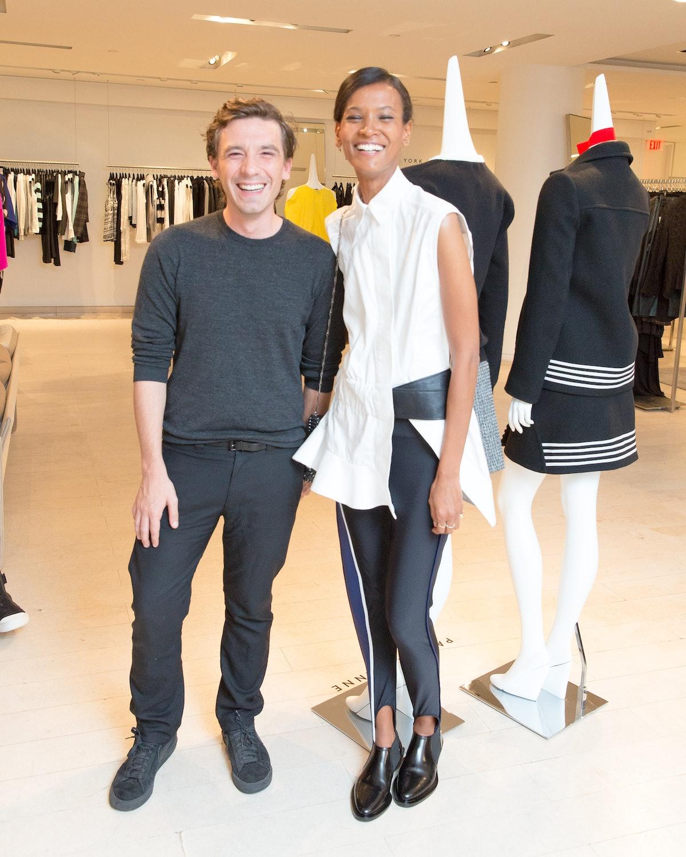 Julien Dossena and Liya Kebede
