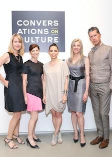 Lucy Kriz, Diane Solway, Teresita Fernandez, Stefano Tonchi, and Holly Baxter