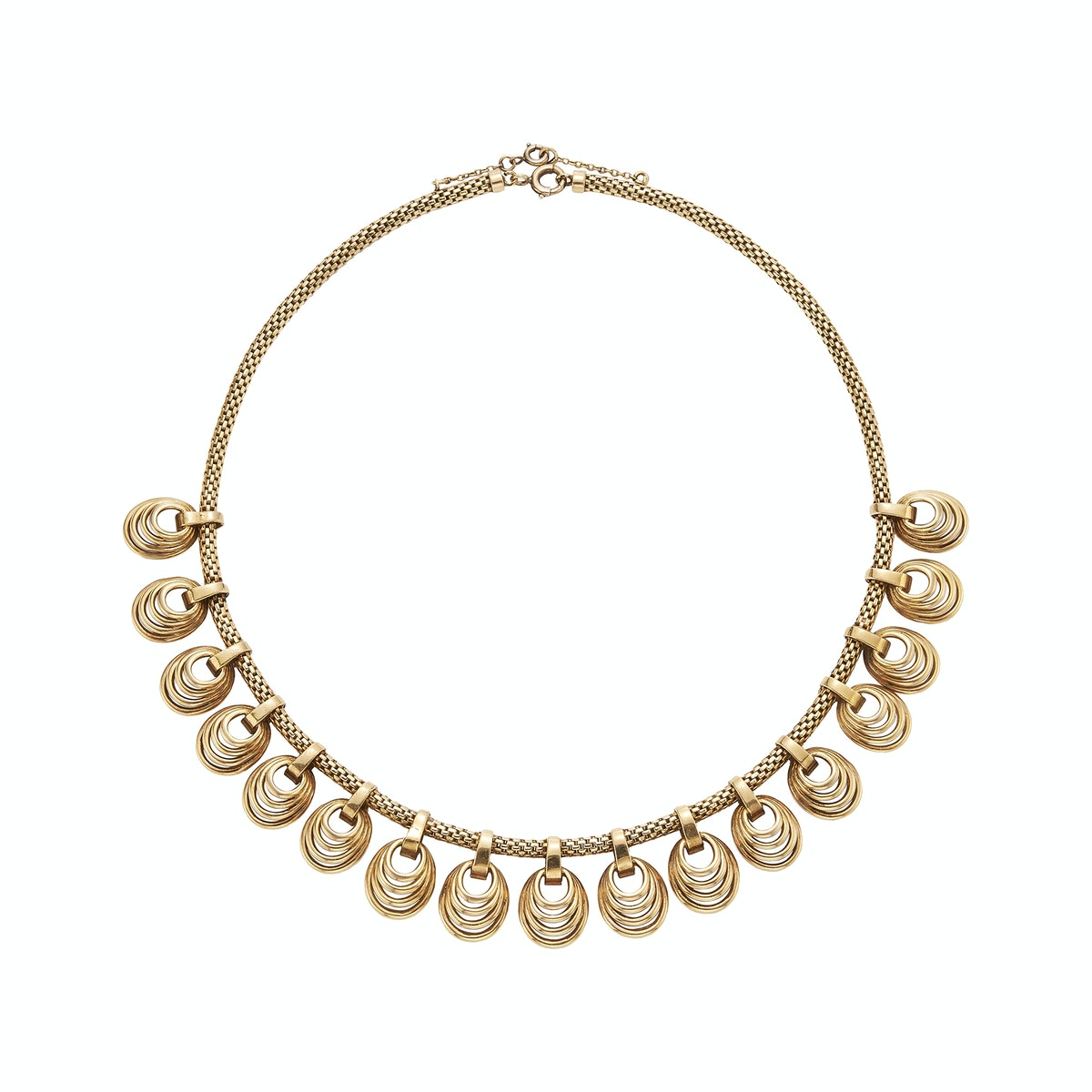 Gold swirled pendant necklace